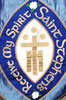 St. Stephens Church custom silk celebration banner in blue silks